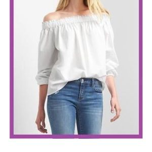 Gap off the shoulder blouse